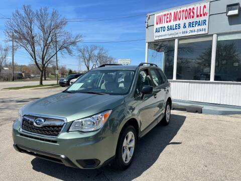 2015 Subaru Forester for sale at United Motors LLC in Saint Francis WI