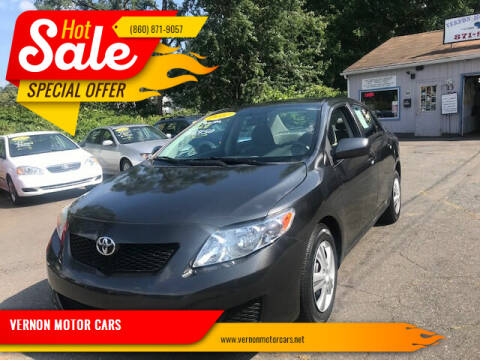 2010 Toyota Corolla for sale at VERNON MOTOR CARS in Vernon Rockville CT