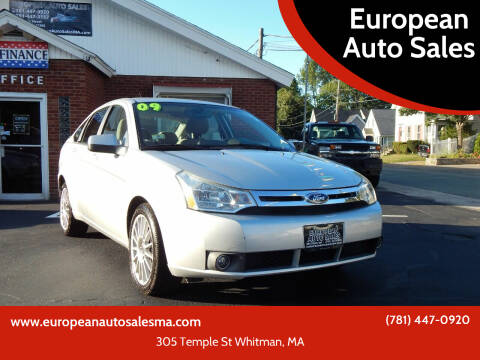 2009 Ford Focus for sale at European Auto Sales in Whitman MA