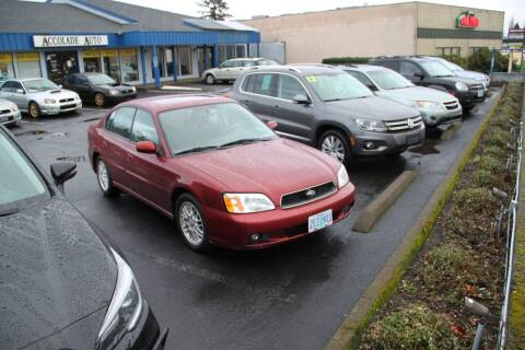2003 Subaru Legacy for sale at Accolade Auto in Hillsboro OR