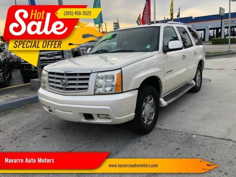 2004 Cadillac Escalade for sale at Navarro Auto Motors in Hialeah FL