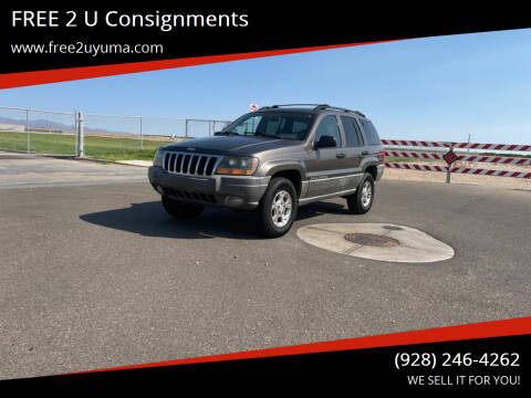 2000 Jeep Cherokee for sale at FREE 2 U Consignments in Yuma AZ