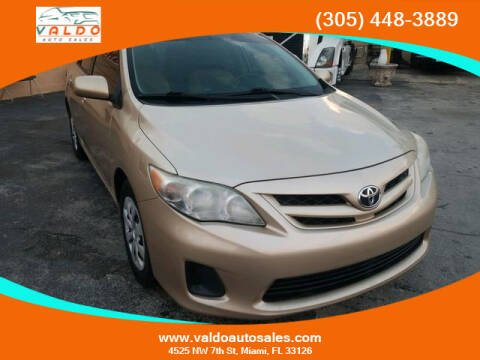 2011 Toyota Corolla for sale at VALDO AUTO SALES in Miami FL