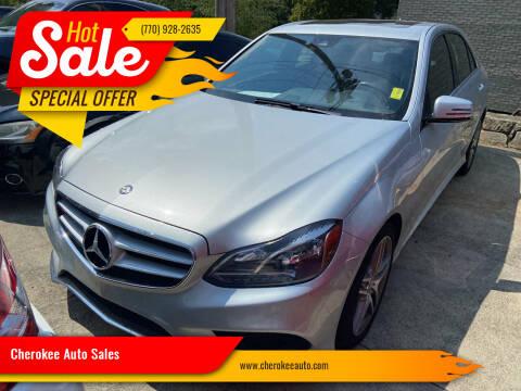 2014 Mercedes-Benz E-Class for sale at Cherokee Auto Sales in Acworth GA