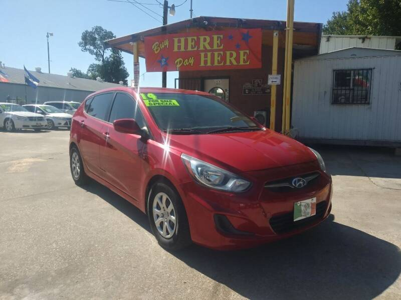 2014 Hyundai Accent for sale at ASHE AUTO SALES, LLC. in Dallas TX