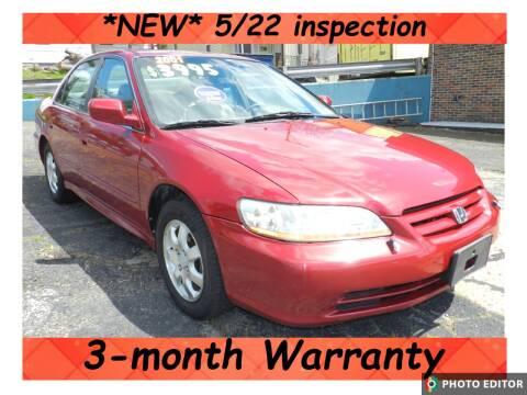 2001 Honda Accord for sale at 2010 Auto Sales in Glassport PA