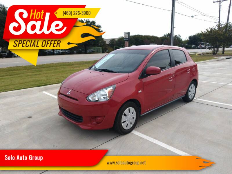 2015 Mitsubishi Mirage for sale at Solo Auto Group in Mckinney TX