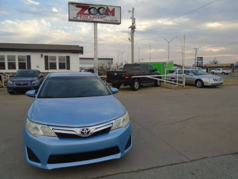 2012 Toyota Camry for sale at Zoom Auto Sales in Oklahoma City OK