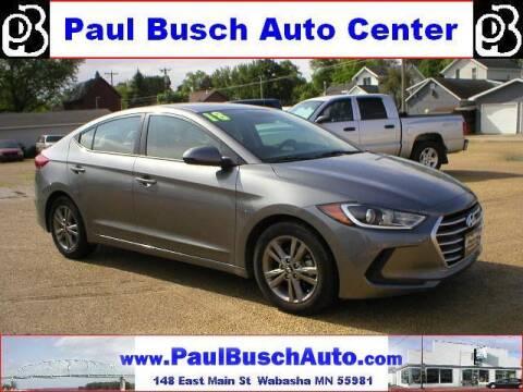 2018 Hyundai Elantra for sale at Paul Busch Auto Center Inc in Wabasha MN