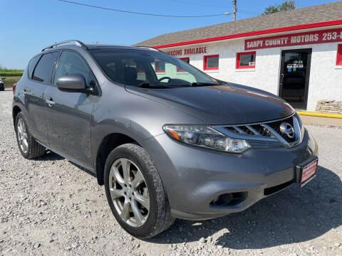 2013 Nissan Murano for sale at Sarpy County Motors in Springfield NE