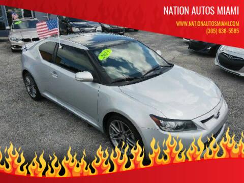 2013 Scion tC for sale at Nation Autos Miami in Hialeah FL