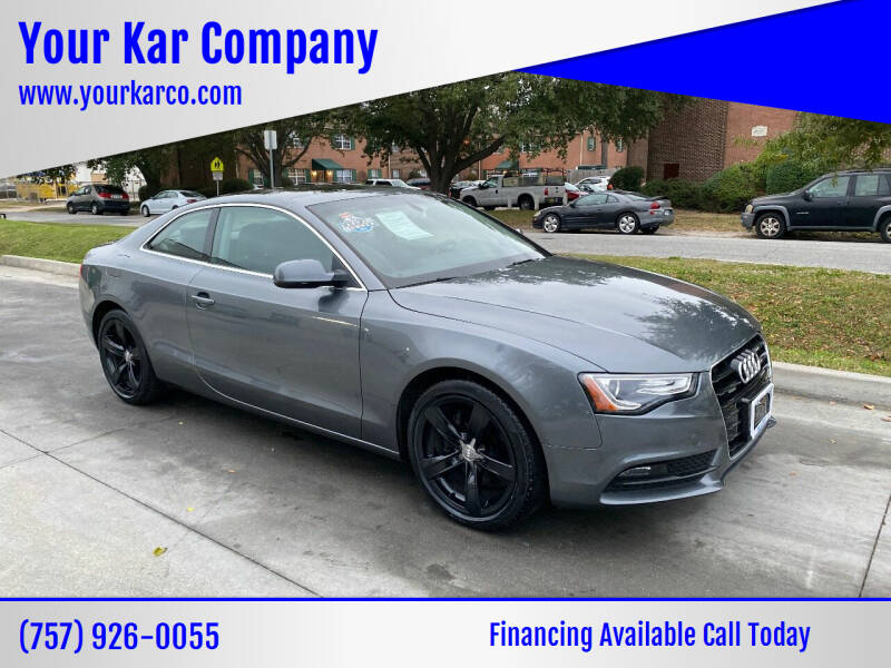 2015 Audi A5 for sale at Your Kar Company in Norfolk VA