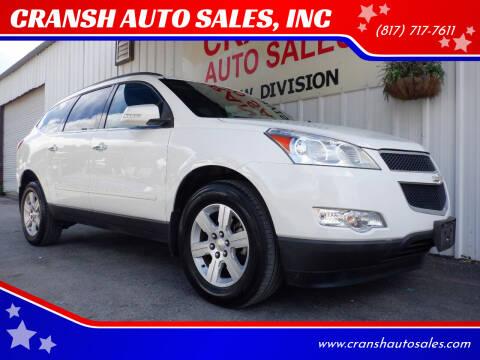 2011 Chevrolet Traverse for sale at CRANSH AUTO SALES, INC in Arlington TX
