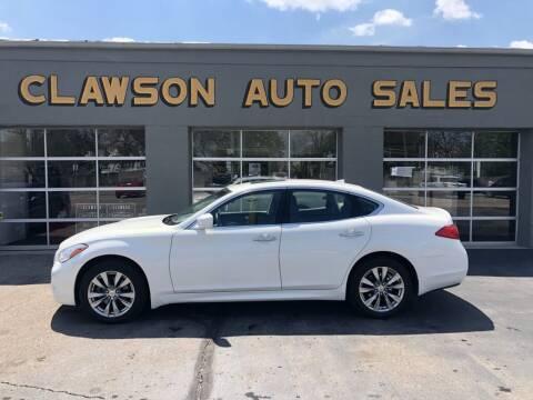 2012 Infiniti M37 for sale at Clawson Auto Sales in Clawson MI