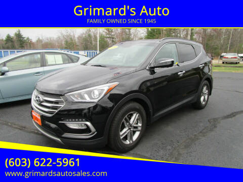 2018 Hyundai Santa Fe Sport for sale at Grimard's Auto in Hooksett, NH