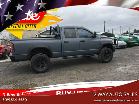 2006 Dodge Ram Pickup 1500 for sale at 2 Way Auto Sales in Spokane Valley WA