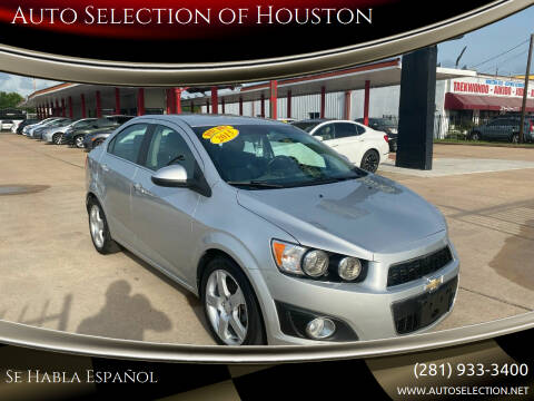 2015 Chevrolet Sonic for sale at Auto Selection of Houston in Houston TX