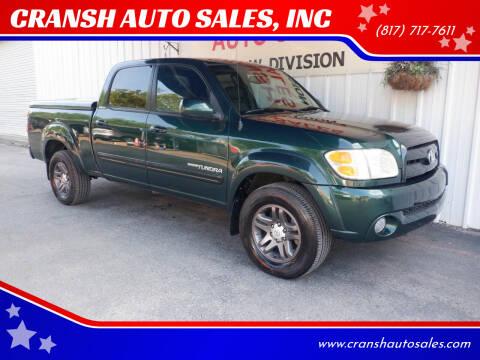 2004 Toyota Tundra for sale at CRANSH AUTO SALES, INC in Arlington TX