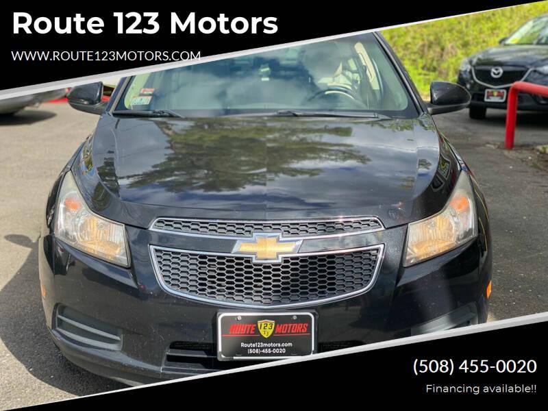 2011 Chevrolet Cruze for sale at Route 123 Motors in Norton MA