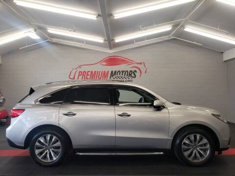 2015 Acura MDX for sale at Premium Motors in Villa Park IL