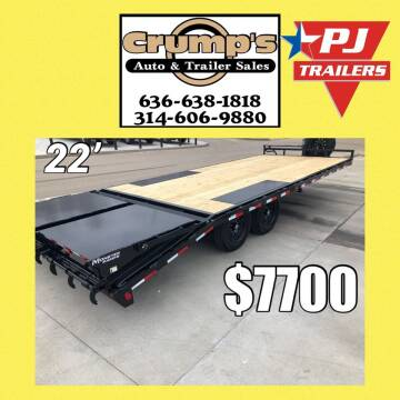 2021 Pj  22' Low Pro Deckover Bumper  for sale at CRUMP'S AUTO & TRAILER SALES in Crystal City MO