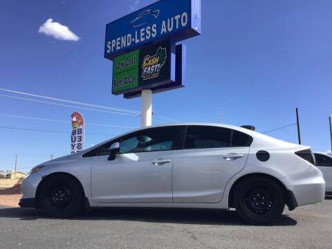 2012 Honda Civic for sale at SPEND-LESS AUTO in Kingman AZ