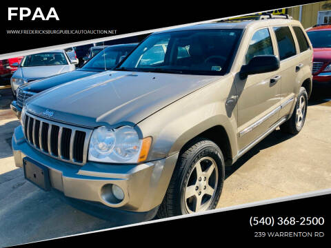 2005 Jeep Grand Cherokee for sale at FPAA in Fredericksburg VA