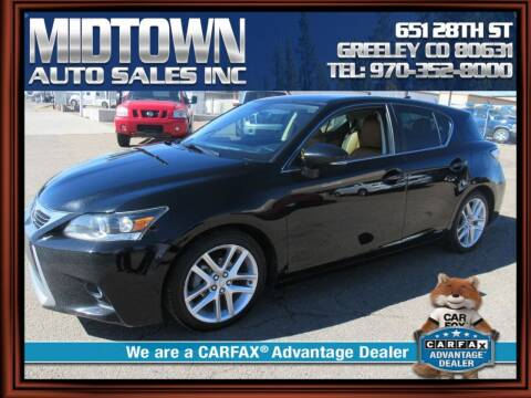 2014 Lexus CT 200h for sale at MIDTOWN AUTO SALES INC in Greeley CO