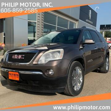 2010 GMC Acadia for sale at Philip Motor Inc in Philip SD