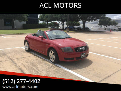 2002 Audi TT for sale at ACL MOTORS in Austin TX