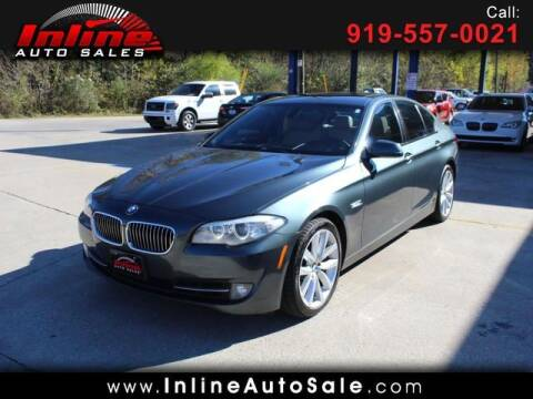 2012 BMW 5 Series for sale at Inline Auto Sales in Fuquay Varina NC