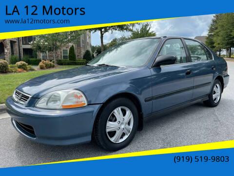 1998 Honda Civic for sale at LA 12 Motors in Durham NC