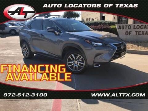 2016 Lexus NX 200t for sale at AUTO LOCATORS OF TEXAS in Plano TX