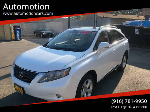 2010 Lexus RX 350 for sale at Automotion in Roseville CA