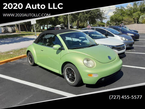 2004 Volkswagen New Beetle Convertible for sale at 2020 AUTO LLC in Clearwater FL