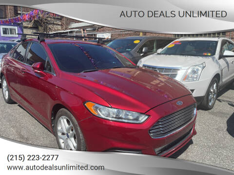 2013 Ford Fusion for sale at AUTO DEALS UNLIMITED in Philadelphia PA