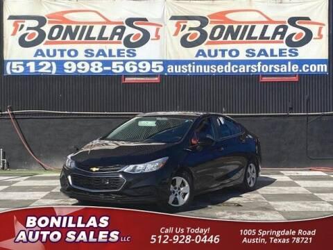 2016 Chevrolet Cruze for sale at Bonillas Auto Sales in Austin TX