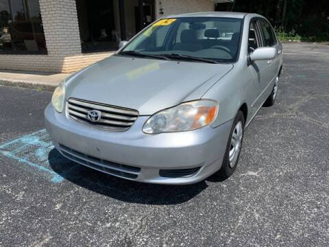 2003 Toyota Corolla for sale at Diana Rico LLC in Dalton GA