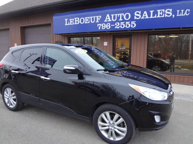 2012 Hyundai Tucson for sale at LeBoeuf Auto Sales in Waterford PA