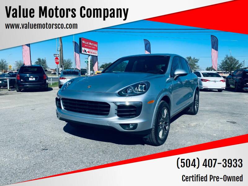 2017 Porsche Cayenne for sale at Value Motors Company in Marrero LA