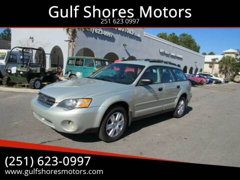 2005 Subaru Outback for sale at Gulf Shores Motors in Gulf Shores AL