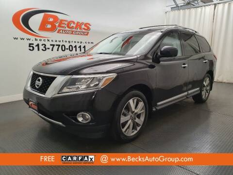 2013 Nissan Pathfinder for sale at Becks Auto Group in Mason OH