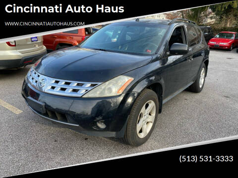 2004 Nissan Murano for sale at Cincinnati Auto Haus in Cincinnati OH