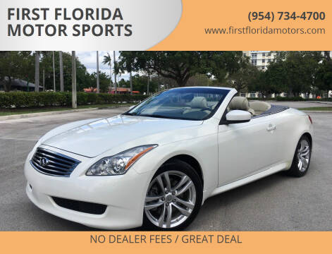 2010 Infiniti G37 Convertible for sale at FIRST FLORIDA MOTOR SPORTS in Pompano Beach FL