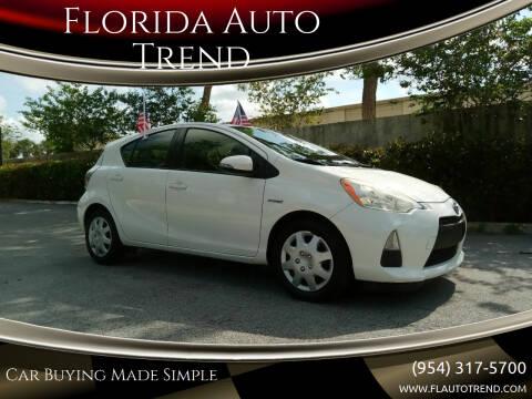 2012 Toyota Prius c for sale at Florida Auto Trend in Plantation FL