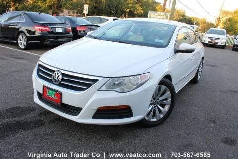 2012 Volkswagen CC for sale at Virginia Auto Trader, Co. in Arlington VA