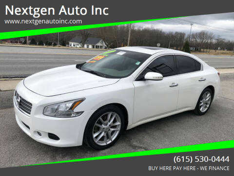 2009 Nissan Maxima for sale at Nextgen Auto Inc in Smithville TN