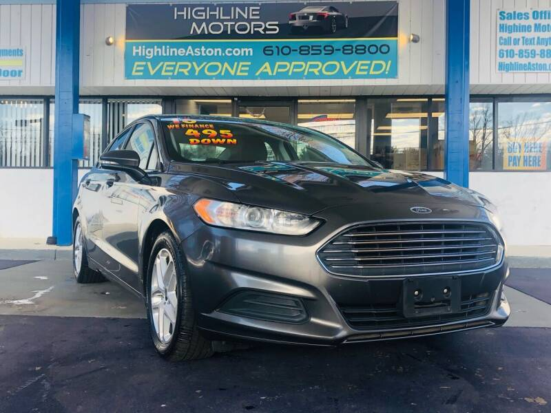 2016 Ford Fusion for sale at Highline Motors in Aston PA