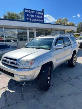 2003 Toyota 4Runner for sale at Right Away Auto Sales in Colorado Springs CO