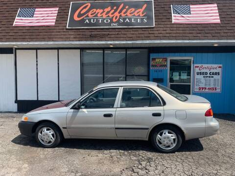 2000 Toyota Corolla for sale at Certified Auto Sales, Inc in Lorain OH